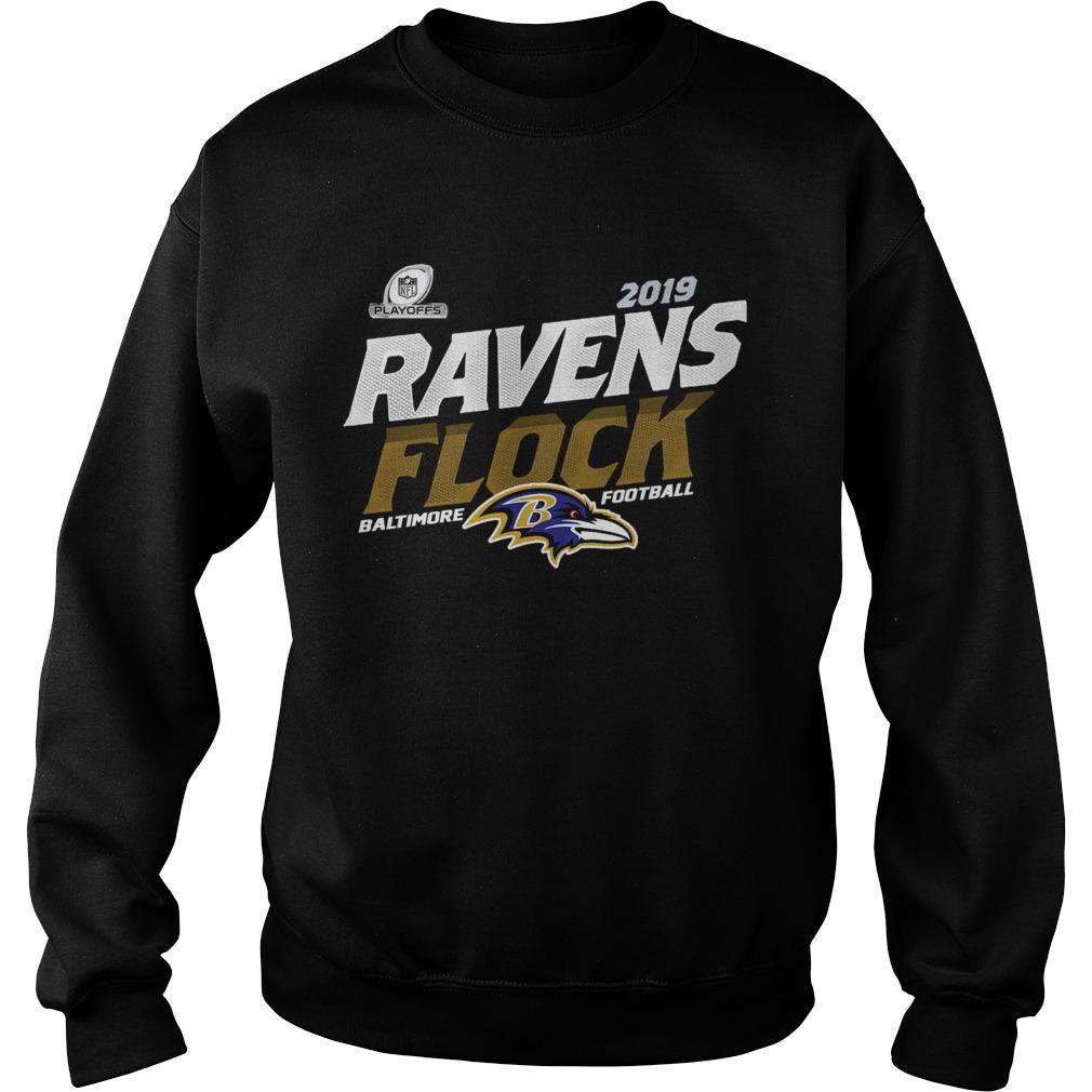 Baltimore Ravens Football Flock 2019 NFL Playoffs  Sweatshirt