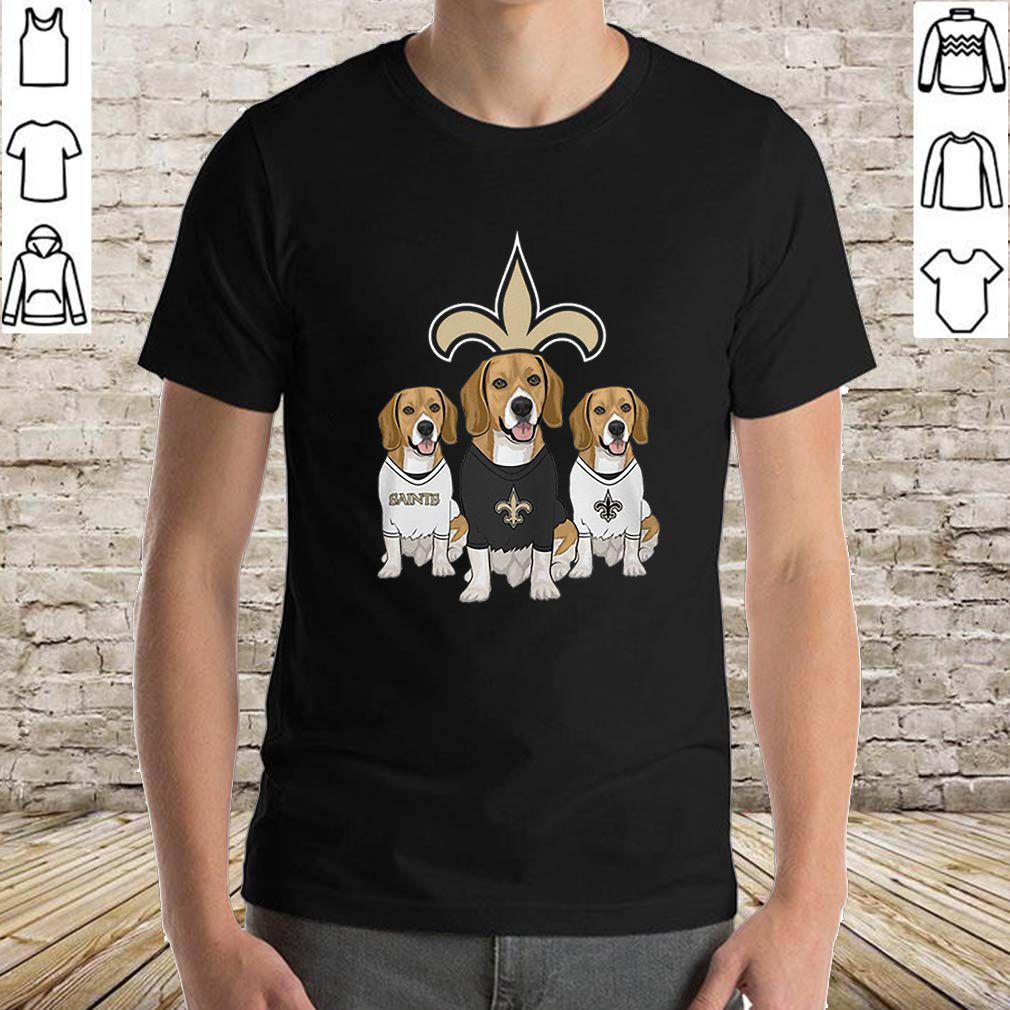 Beagle dogs New Orleans Saints shirt