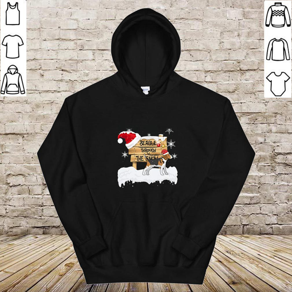 Beagle Through The Snow Christmas shirt