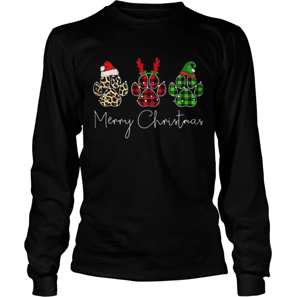 Bear Paw Merry Christmas Leopard  LongSleeve