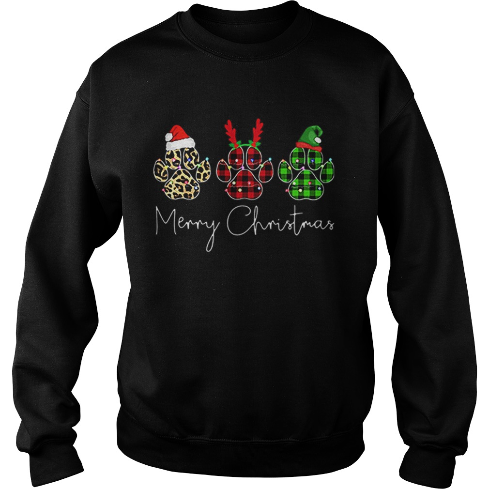 Bear Paw Merry Christmas Leopard  Sweatshirt