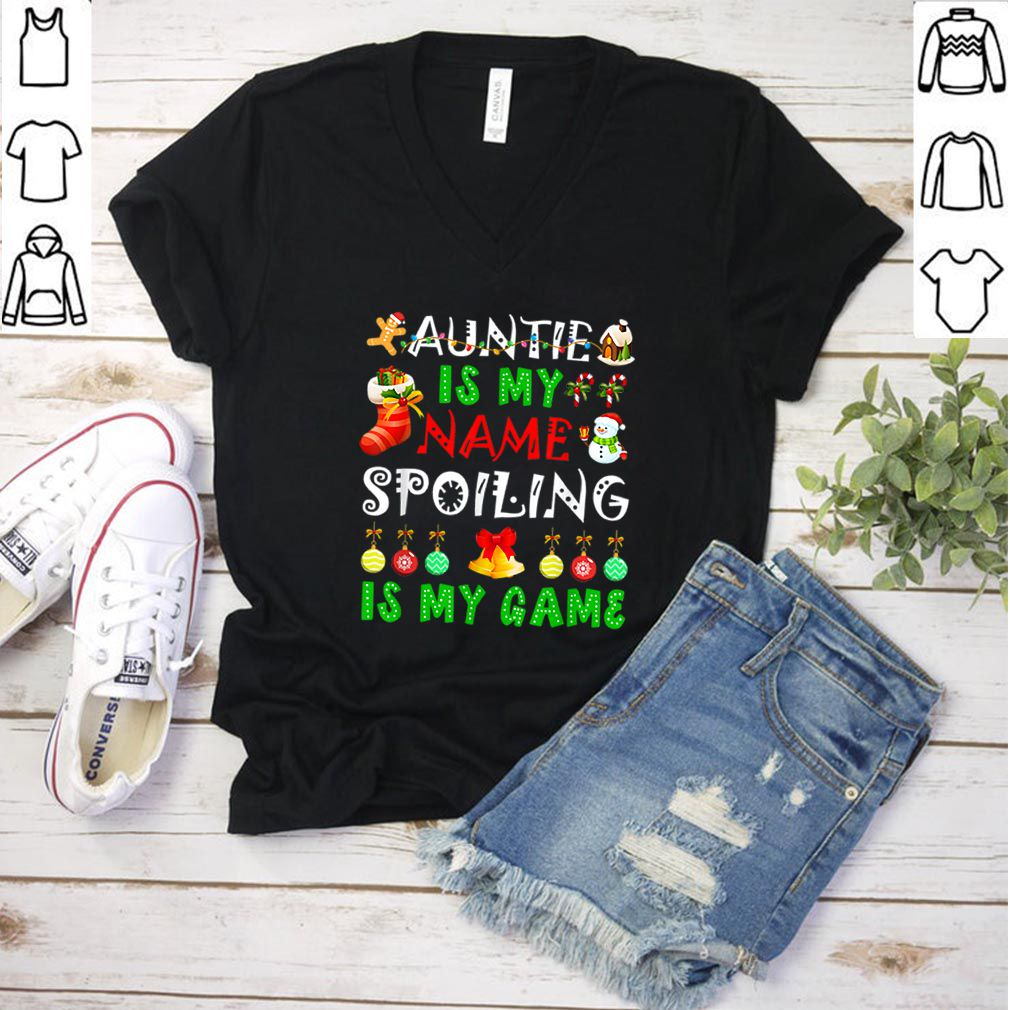 Beautiful auntie is my name spoiling is my game christmas shirt