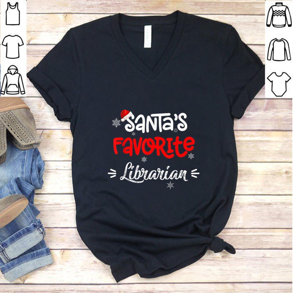 Beautiful Christmas Santa's Favorite Librarian Funny X-mas Gift sweater