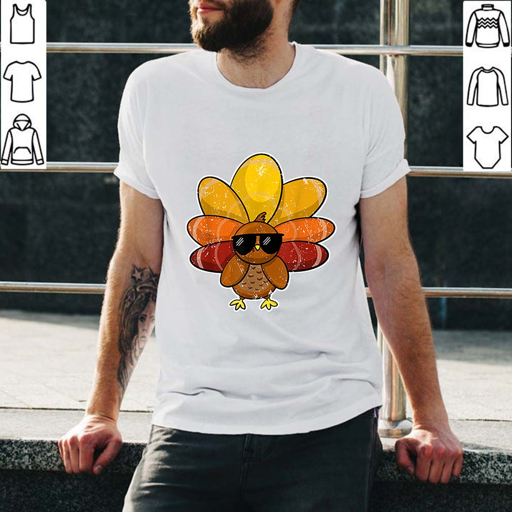 Beautiful cool Turkey sunglasses retro vintage great Thanksgiving Gift shirt