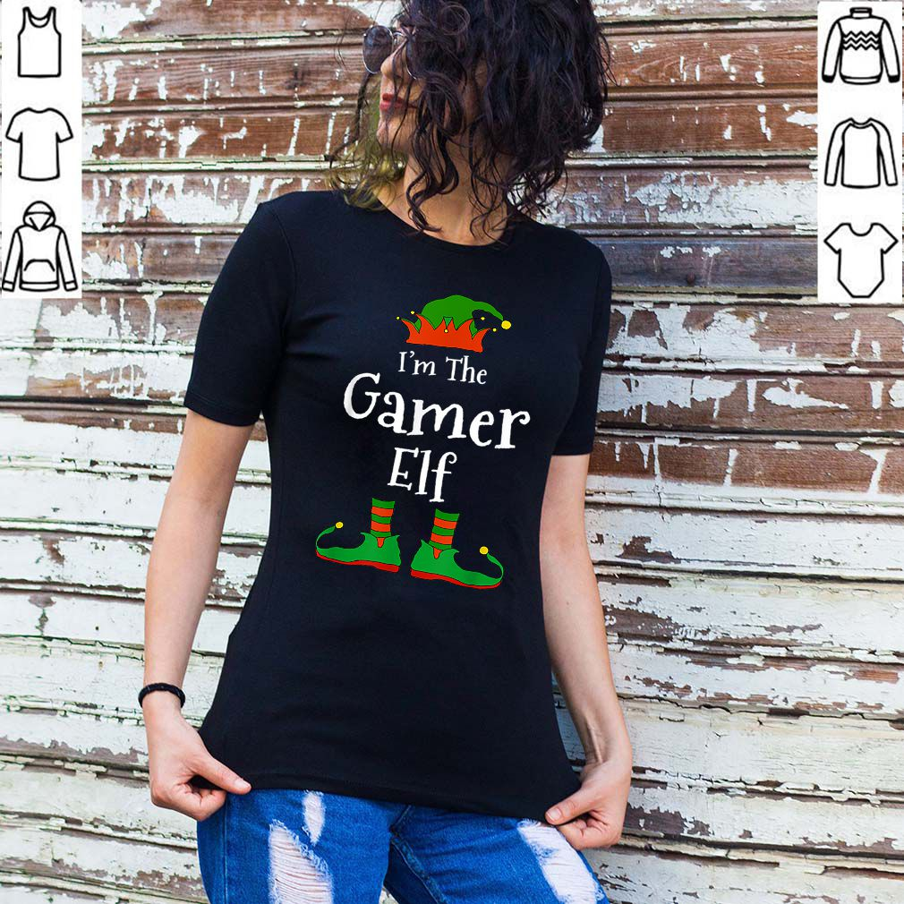 Beautiful I'm The Gamer Elf Family Matching Funny Christmas Group Gift shirt