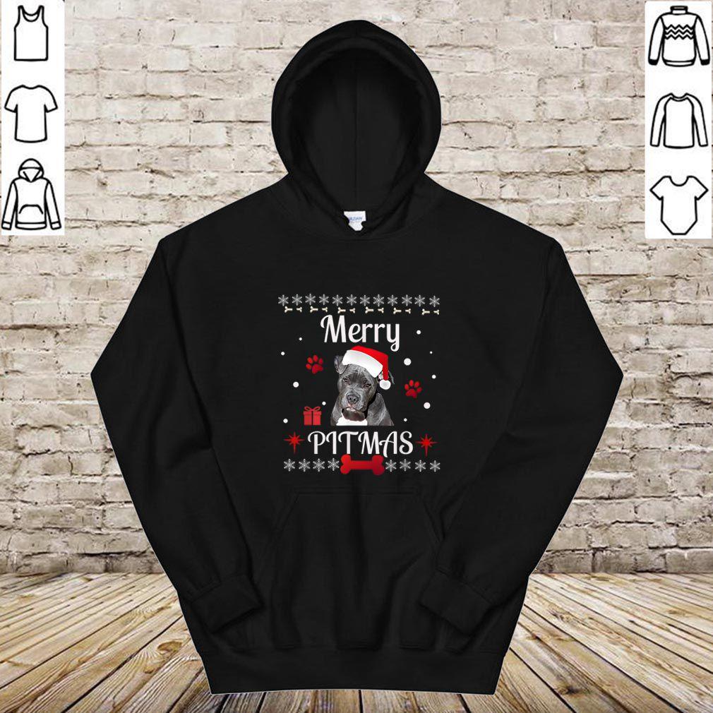 Beautiful Merry Pitmas Bully Pit bull Ugly Christmas shirt