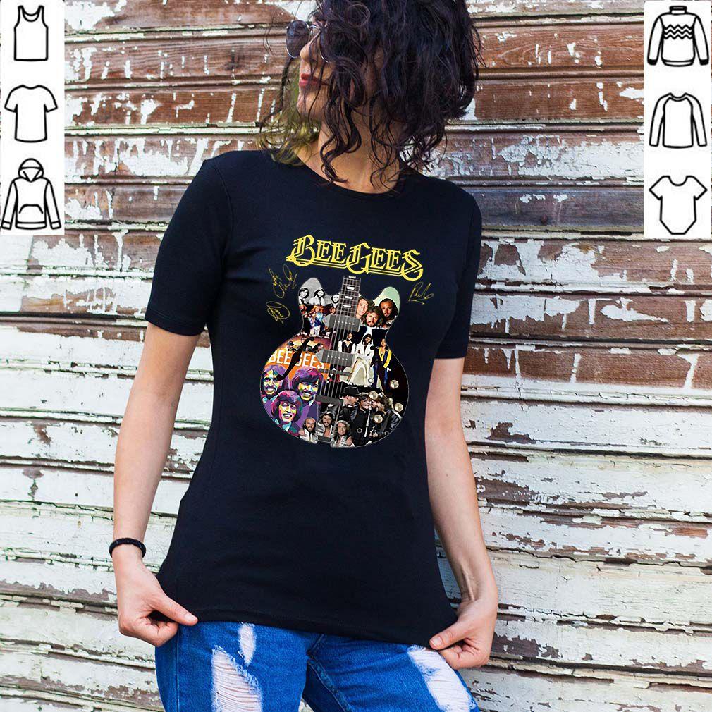 Bee Gees guitarist band signatures shirt
