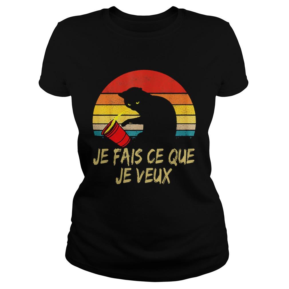Black Cat Je Fais Ce Que Je Veux Vintage  Classic Ladies