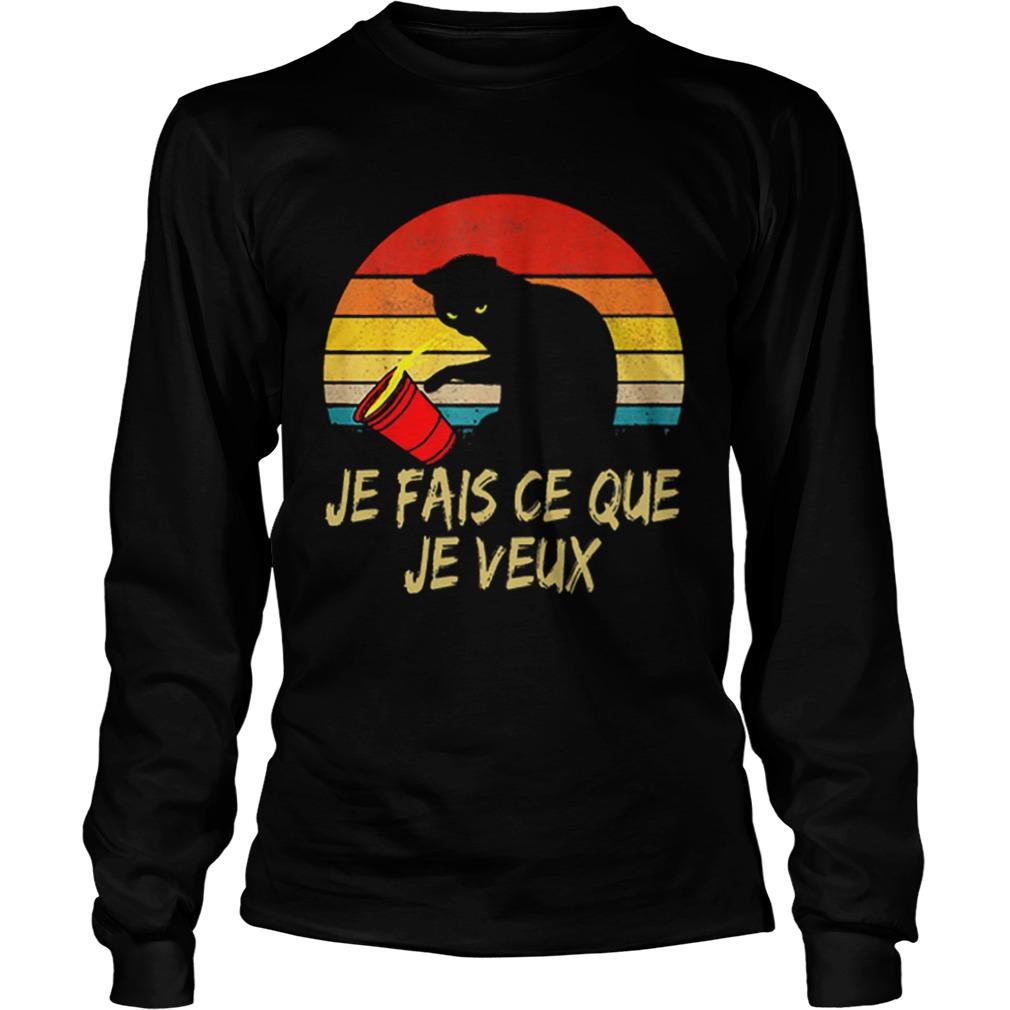 Black Cat Je Fais Ce Que Je Veux Vintage  LongSleeve