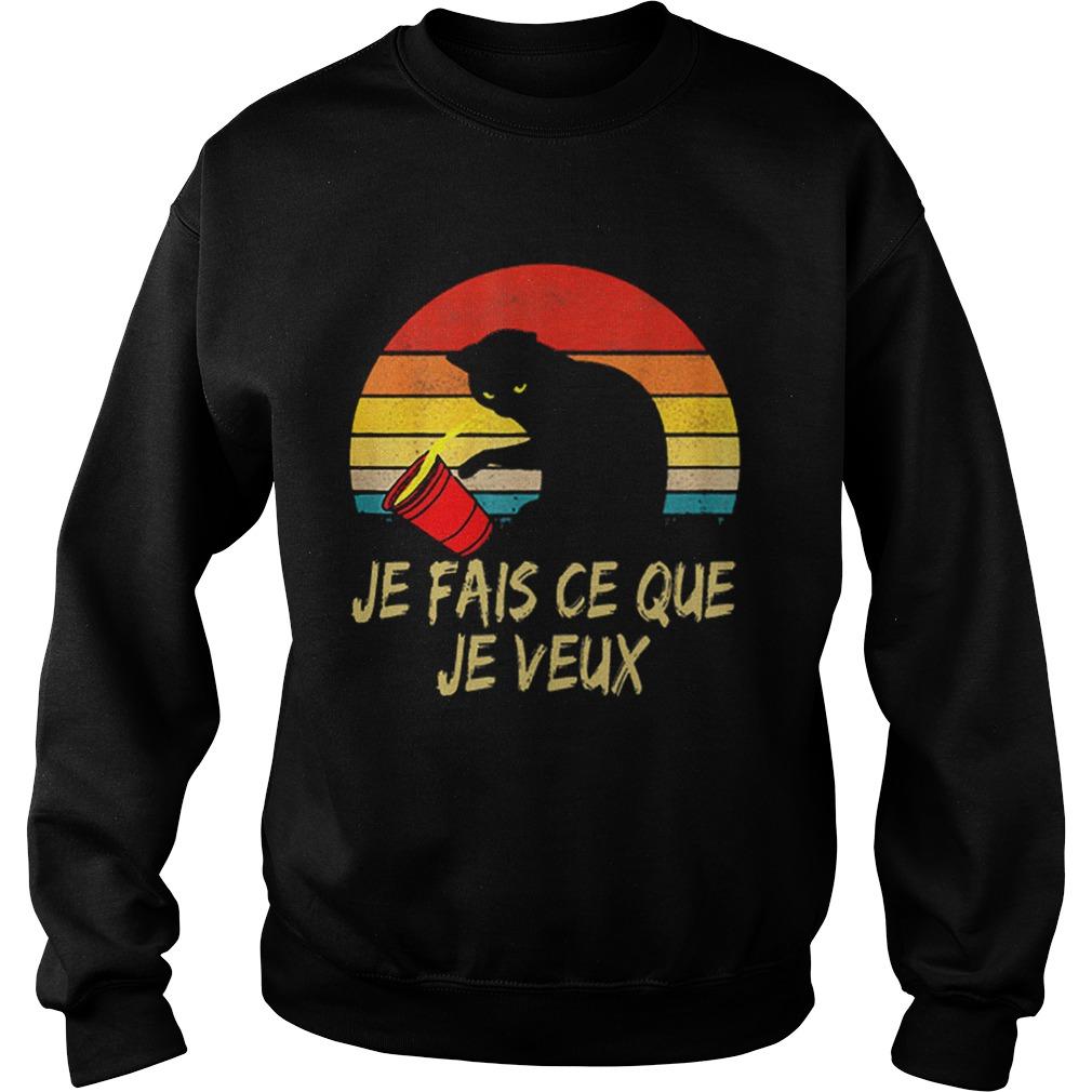 Black Cat Je Fais Ce Que Je Veux Vintage  Sweatshirt