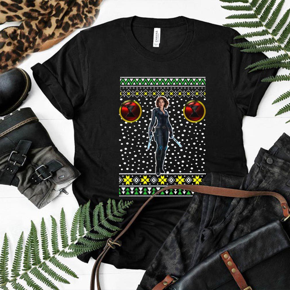 Black Widow Logo Ugly Christmas Shirt