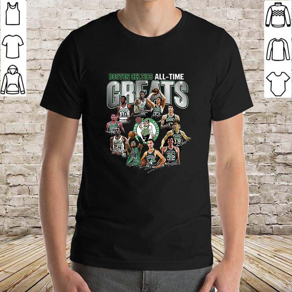 Boston Celtics all time greats legend all signature shirt
