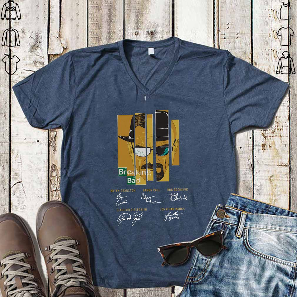 Breaking Bad Bryan Cranston Aaron Paul Bob Odenkirk Signatures shirt