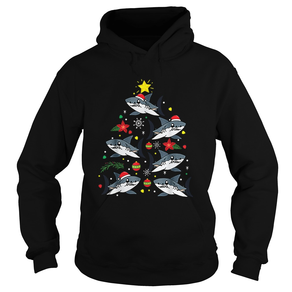 Bull Shark Christmas Ornament Tree  Hoodie