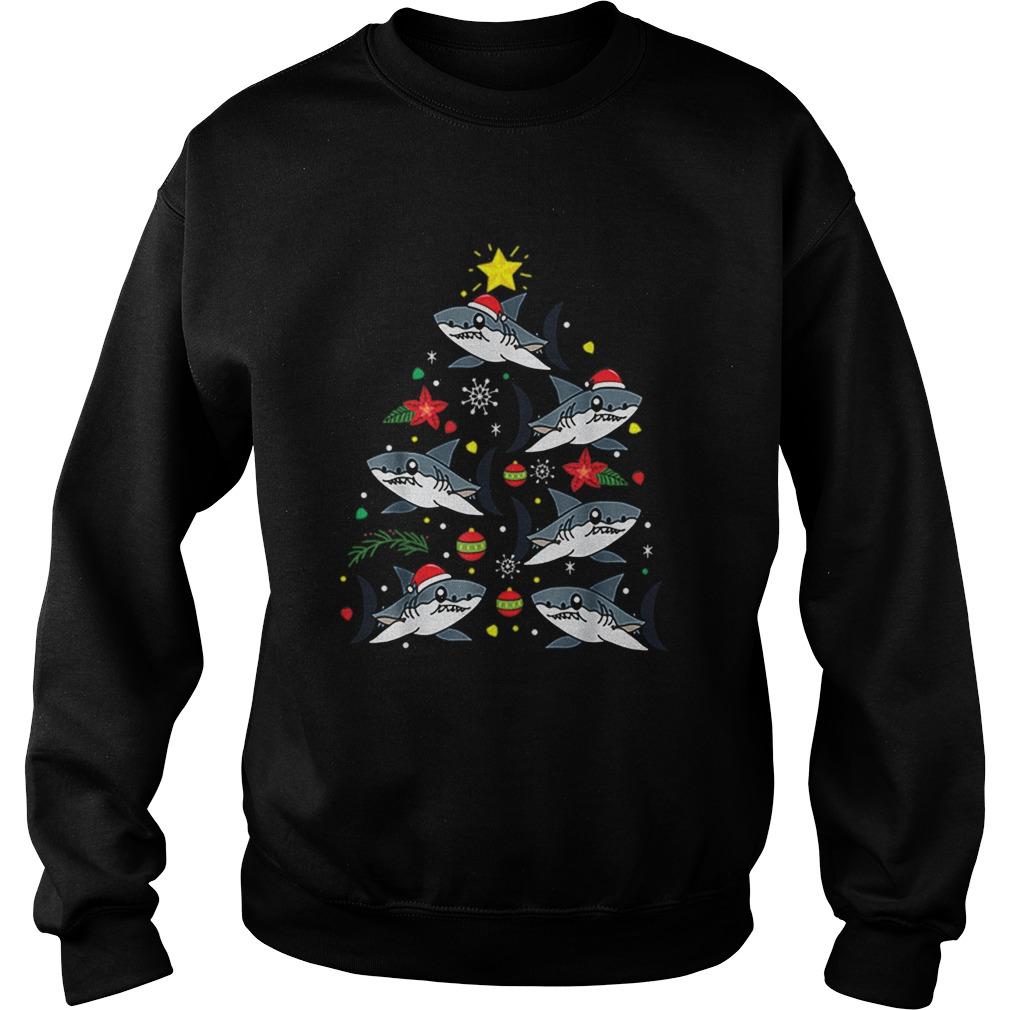 Bull Shark Christmas Ornament Tree  Sweatshirt