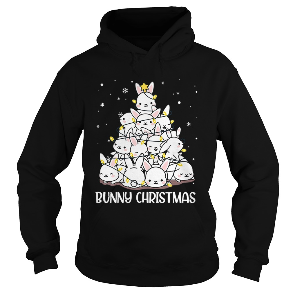 Bunny Rabbit Christmas tree  Hoodie
