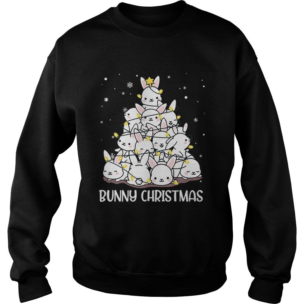 Bunny Rabbit Christmas tree  Sweatshirt
