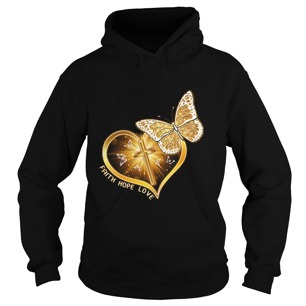 Butterfly cross faith hope love  Hoodie