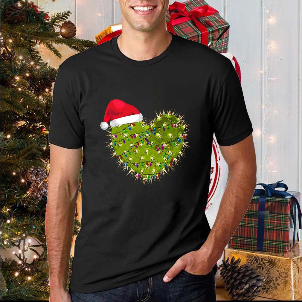 Cactus Heart Christmas T-Shirt