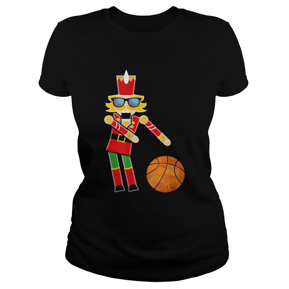 Christmas Basketball Flossing Nutcracker  Classic Ladies
