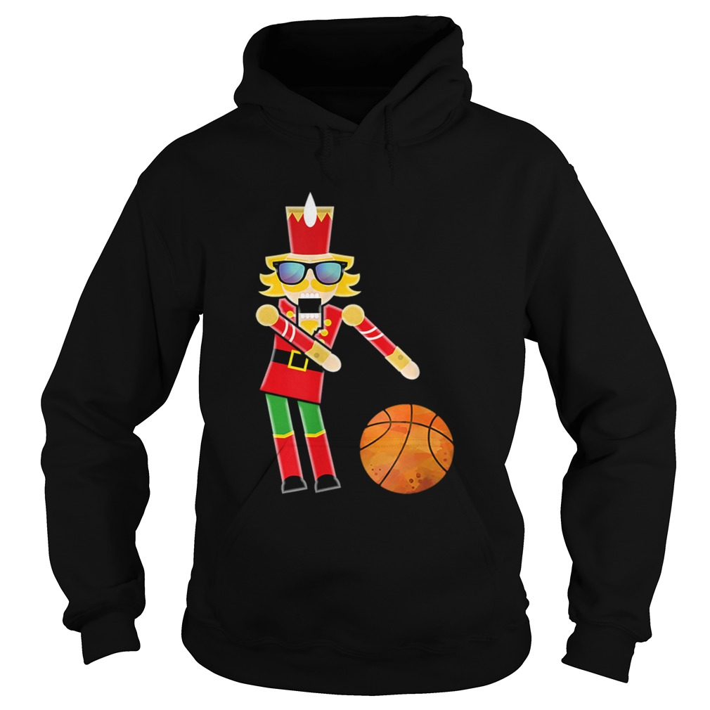 Christmas Basketball Flossing Nutcracker  Hoodie