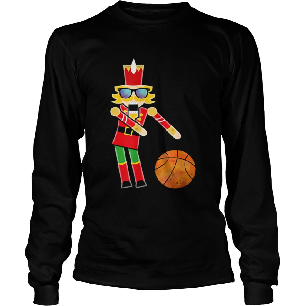 Christmas Basketball Flossing Nutcracker  LongSleeve