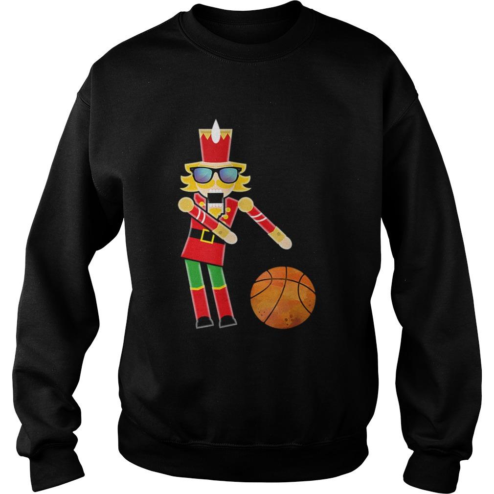 Christmas Basketball Flossing Nutcracker  Sweatshirt