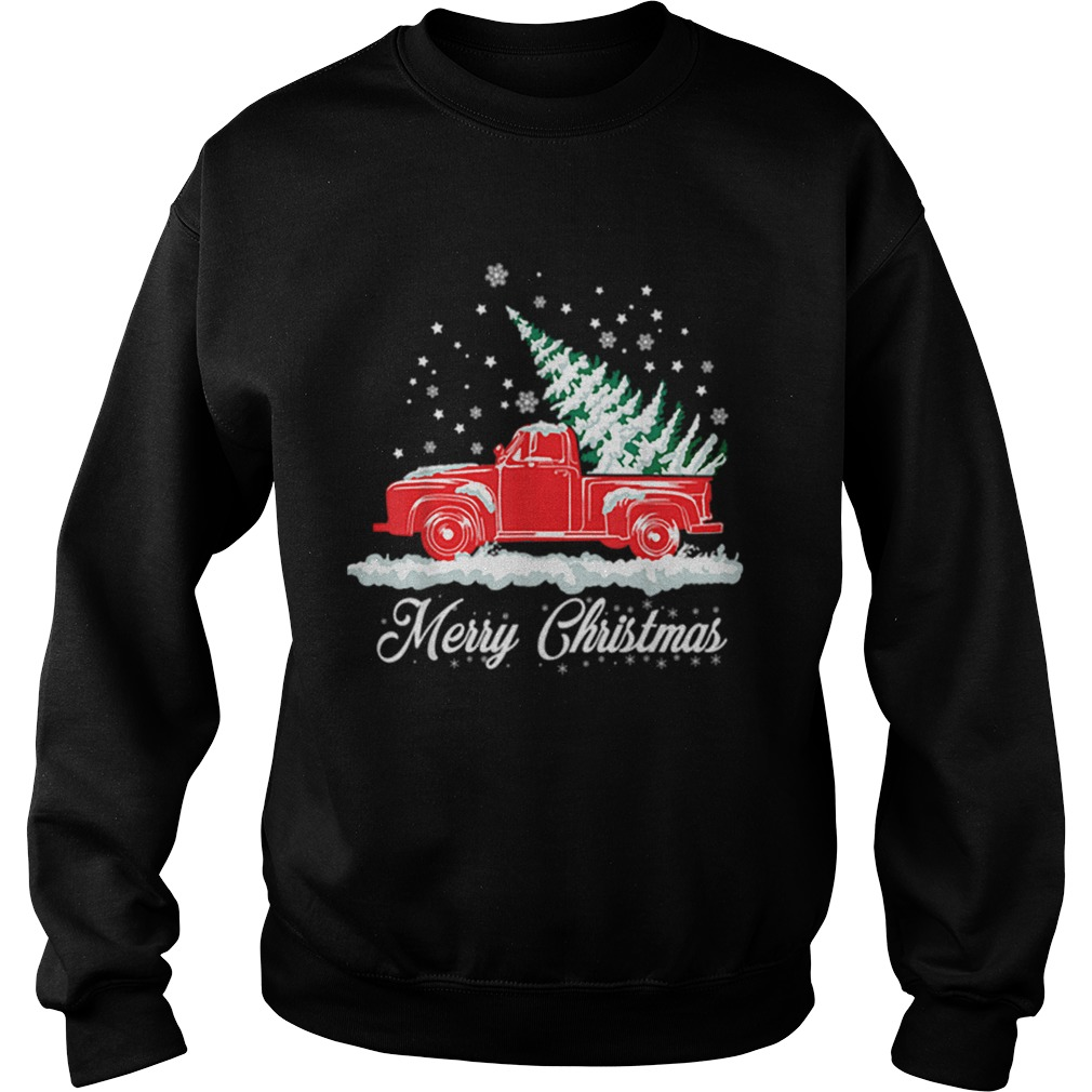 Christmas Classic Old Red Truck Classic XMAS Tree  Sweatshirt