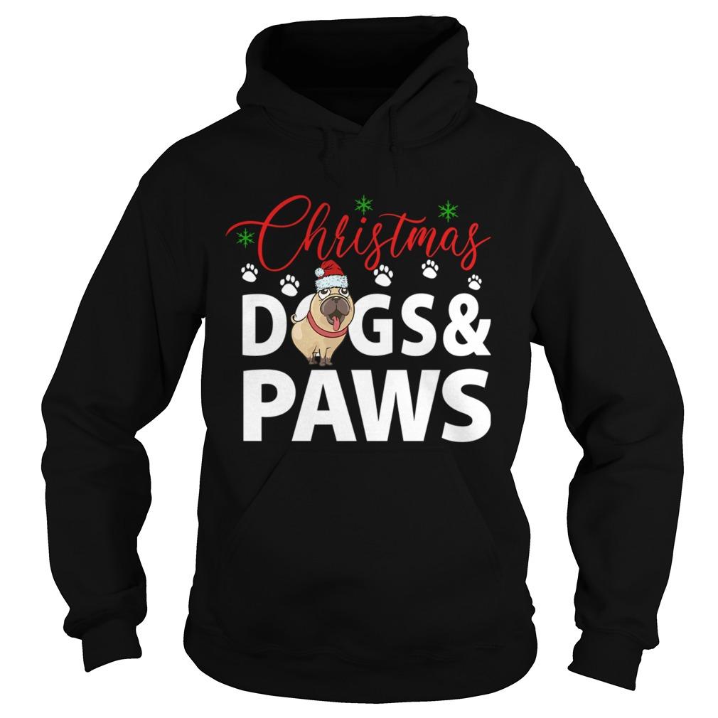 Christmas DogsPaws  Hoodie