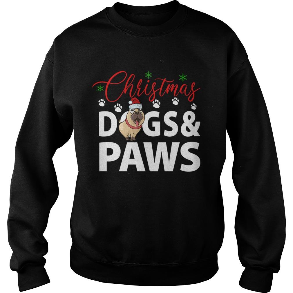 Christmas DogsPaws  Sweatshirt