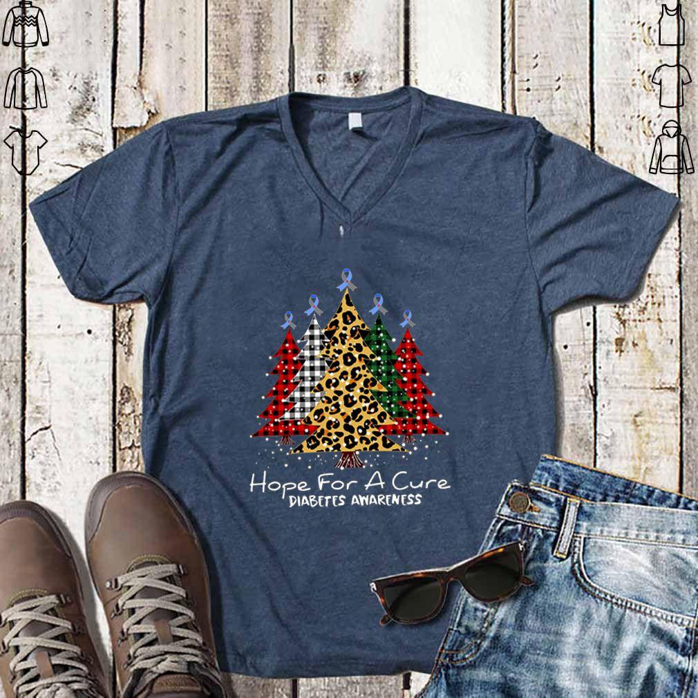 Christmas tree hope for a cure Diabetes Awareness shirt