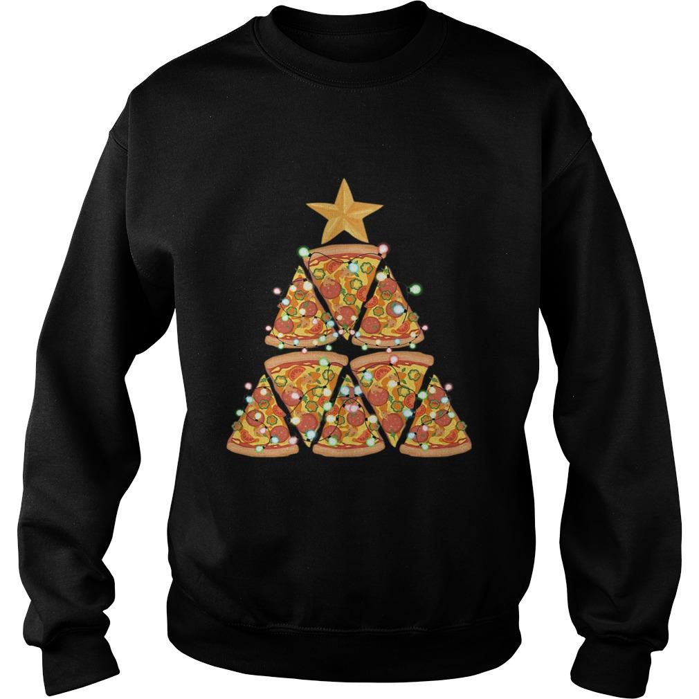 Christmas Tree Pizza  Sweatshirt