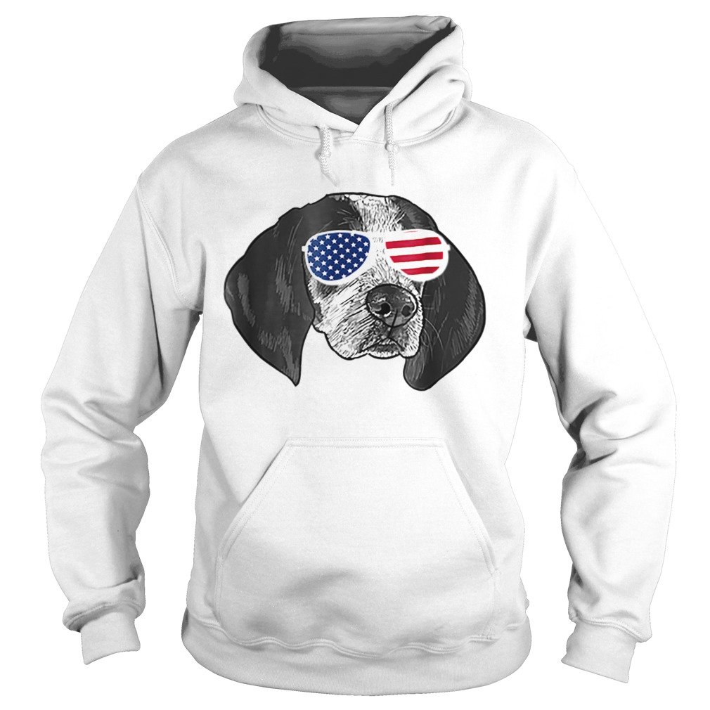 Coonhound American glasses  Hoodie