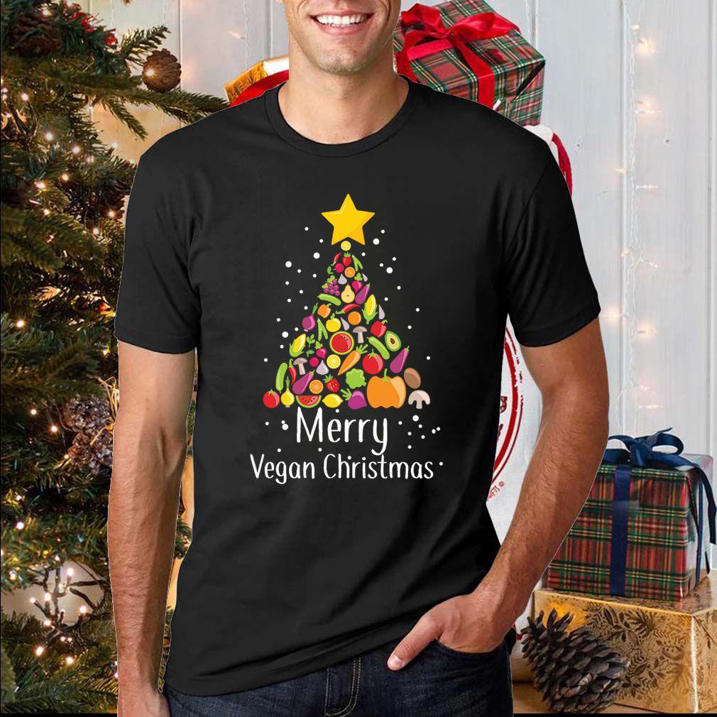 Cute &  Lovely Fruits Wishing You A Merry Vegan Christmas T-Shirt