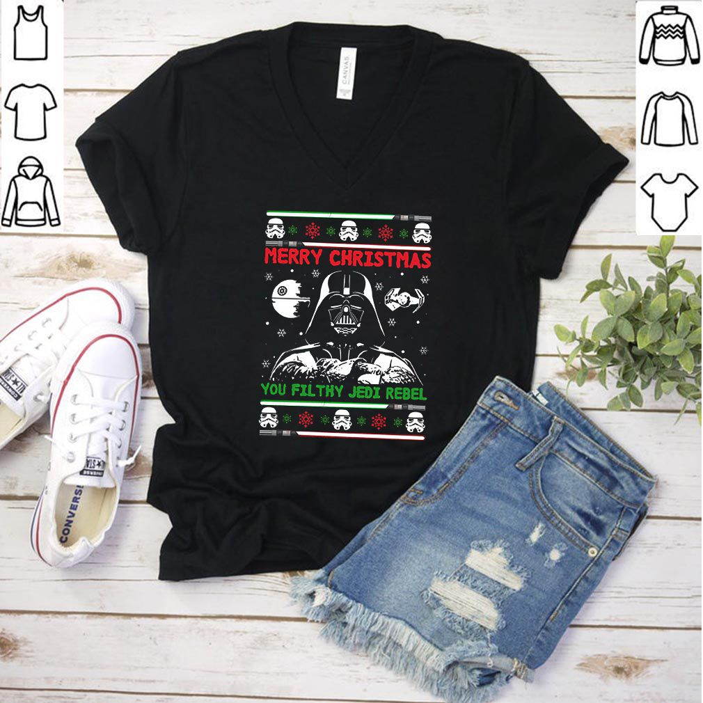 Darth Vader Star Wars Merry Christmas You Filthy Jedi Rebel Ugly Christmas shirt