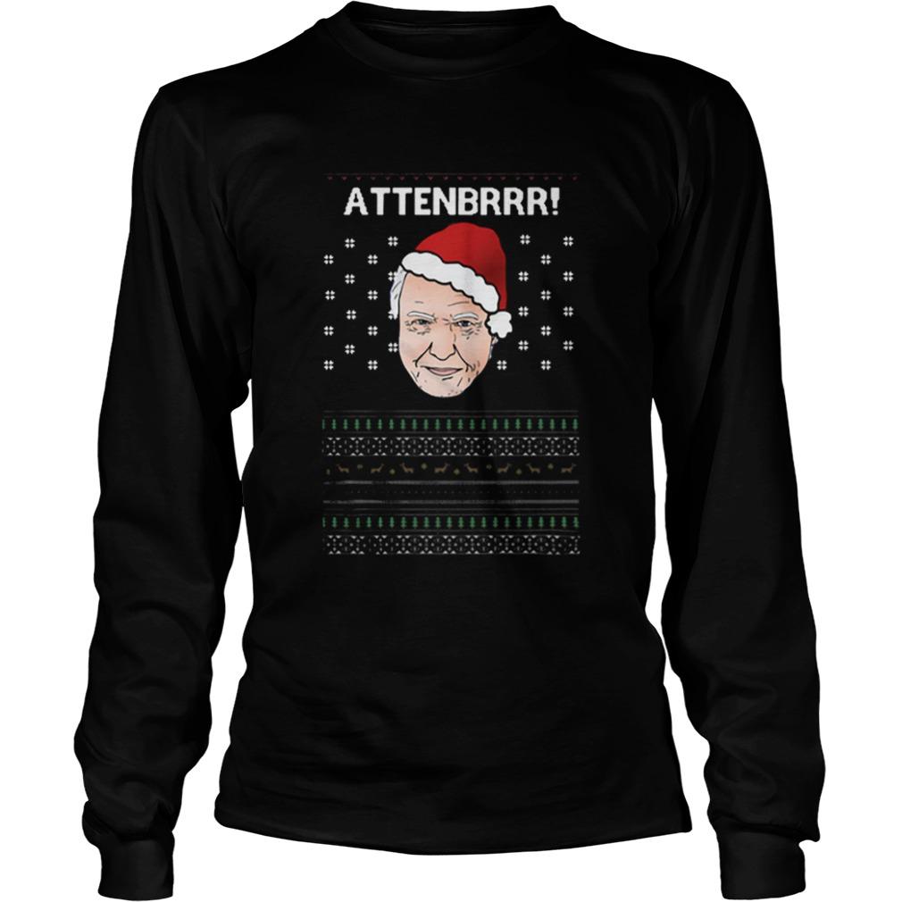 David Attenborough Attenbrrr ugly christmas  LongSleeve