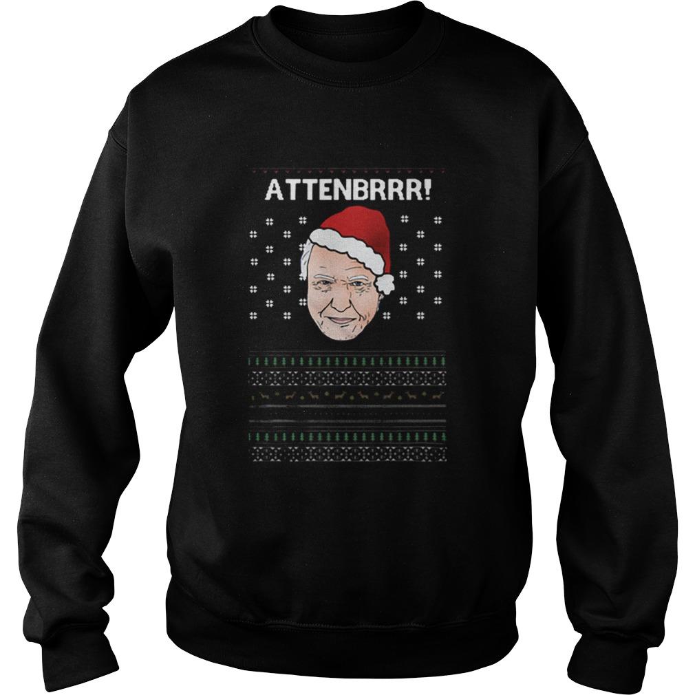 David Attenborough Attenbrrr ugly christmas  Sweatshirt