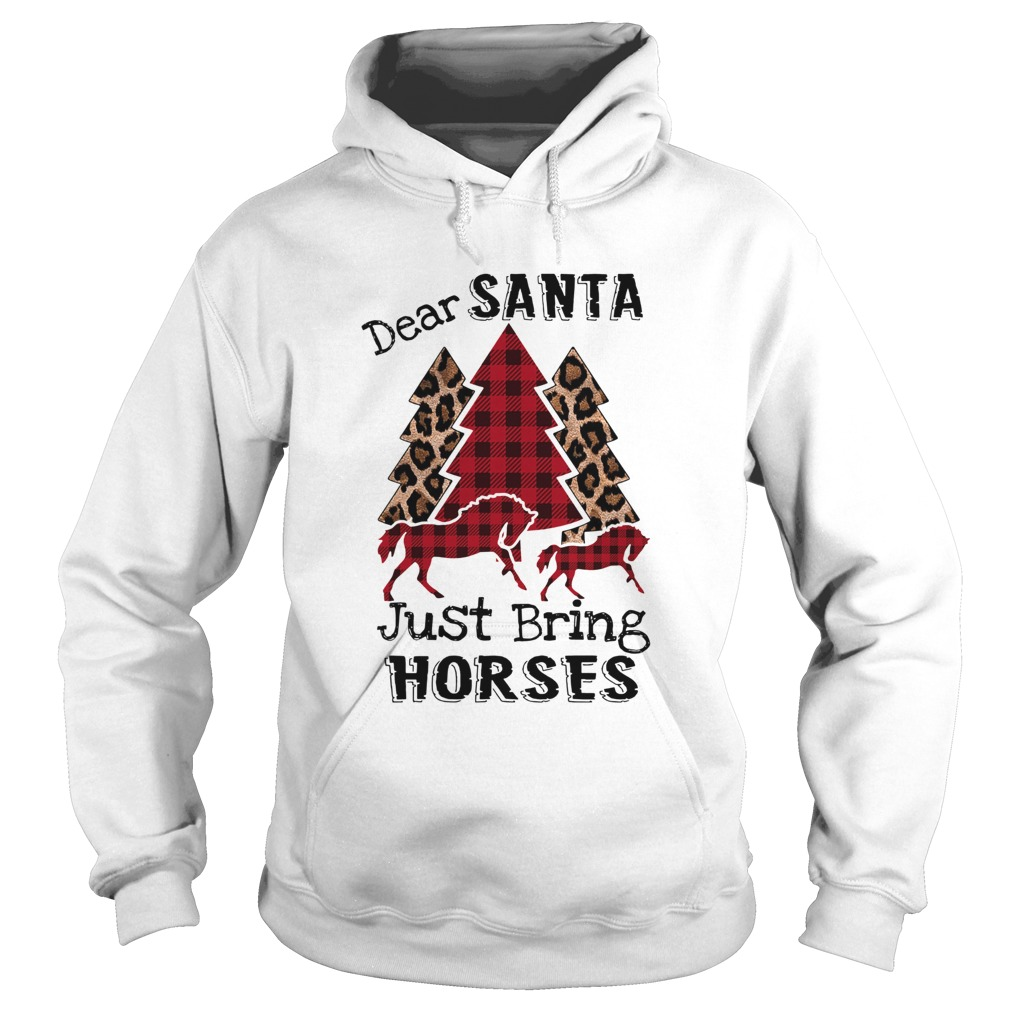 Dear Santa Just bring horses Plaid Christmas Tree  Hoodie