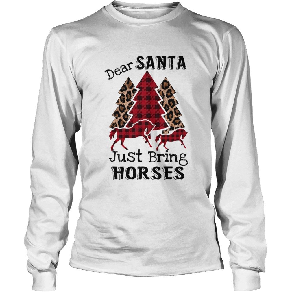 Dear Santa Just bring horses Plaid Christmas Tree  LongSleeve