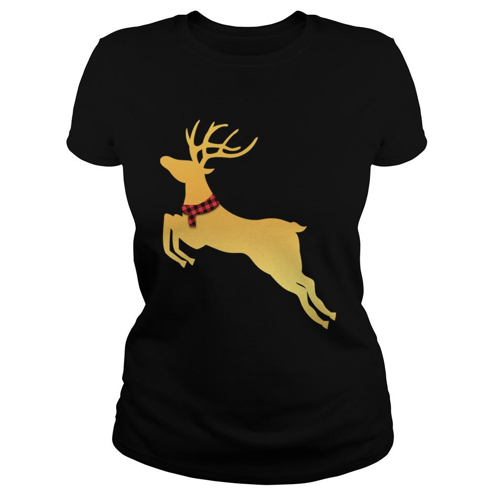 Deer Chrismas Gold  Classic Ladies