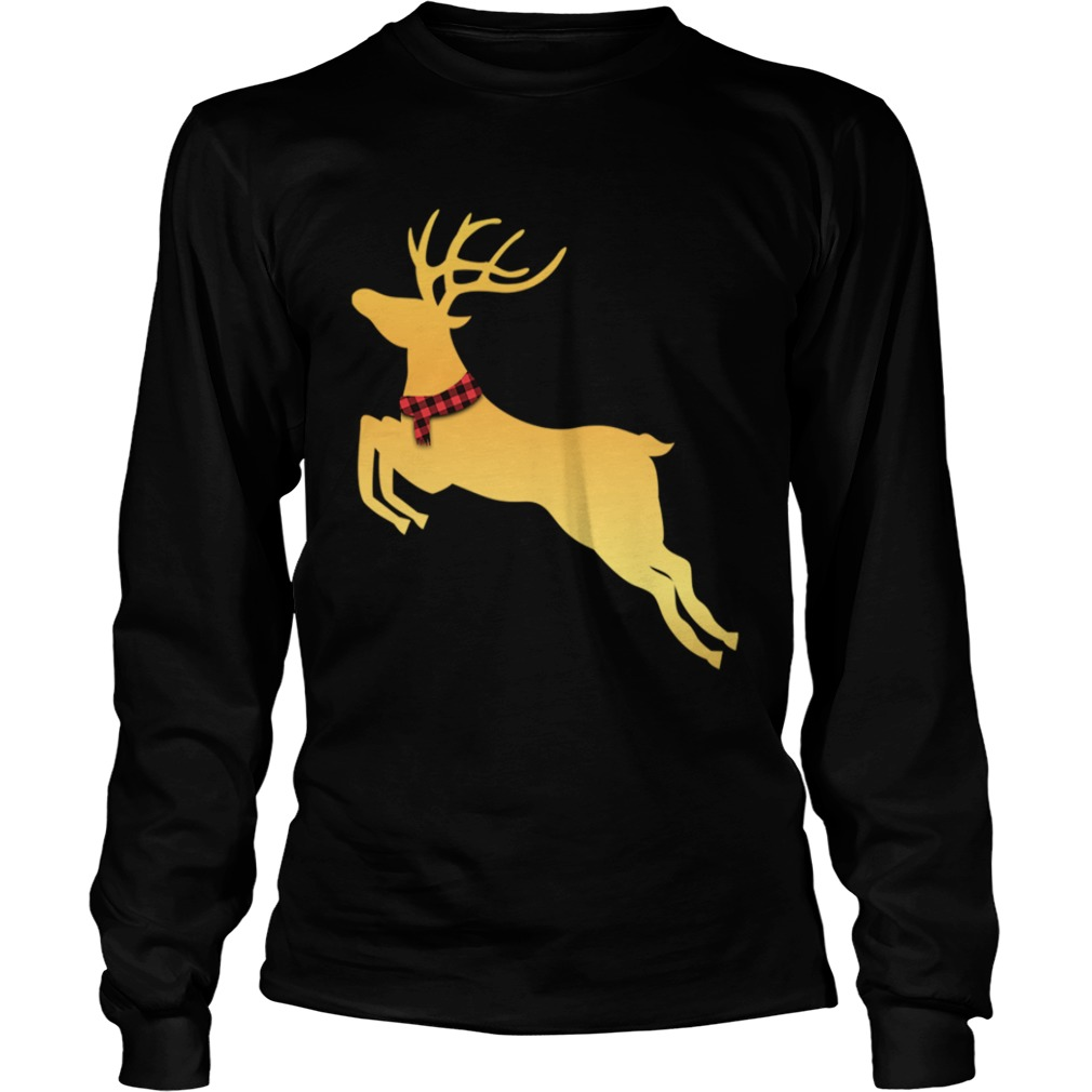 Deer Chrismas Gold  LongSleeve