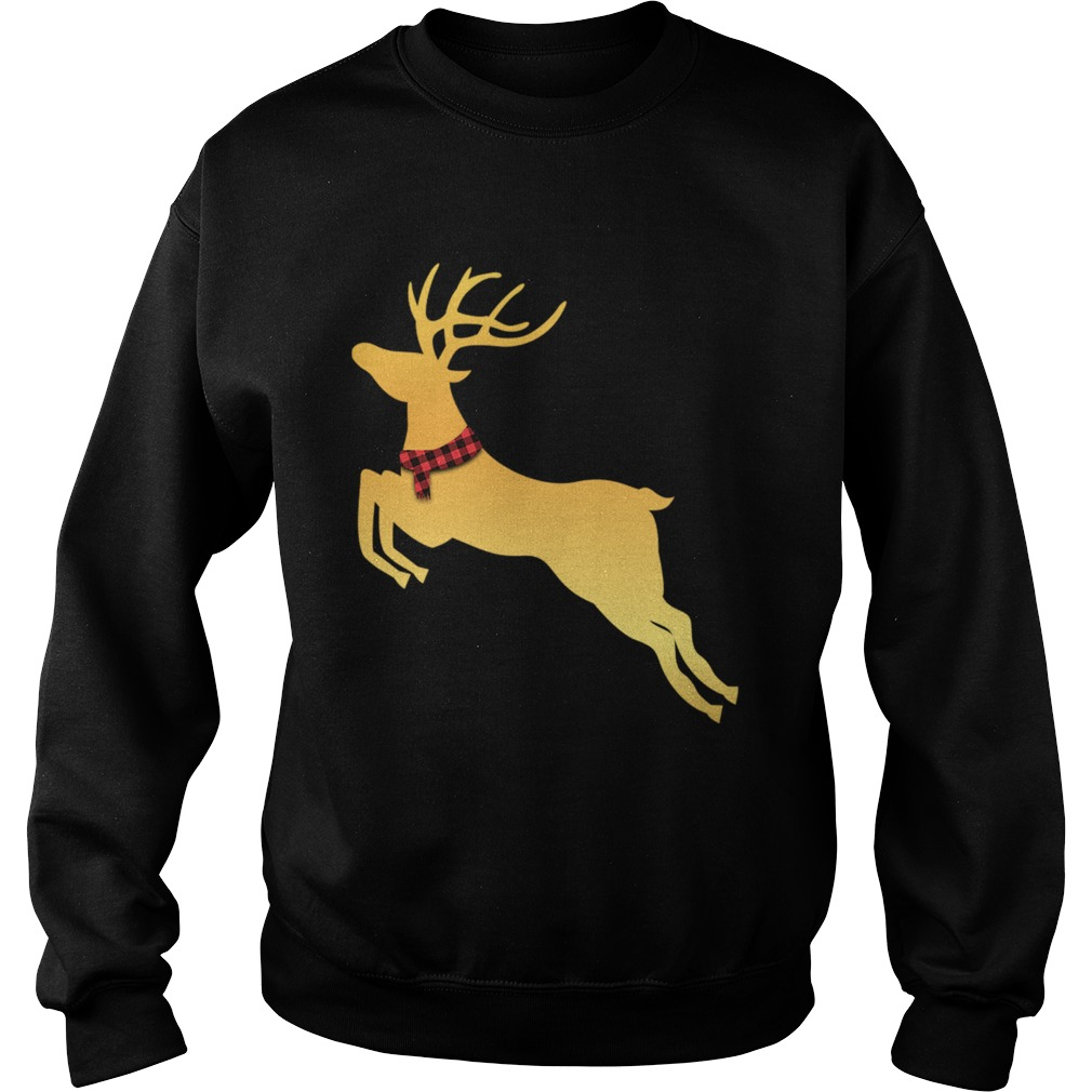 Deer Chrismas Gold  Sweatshirt