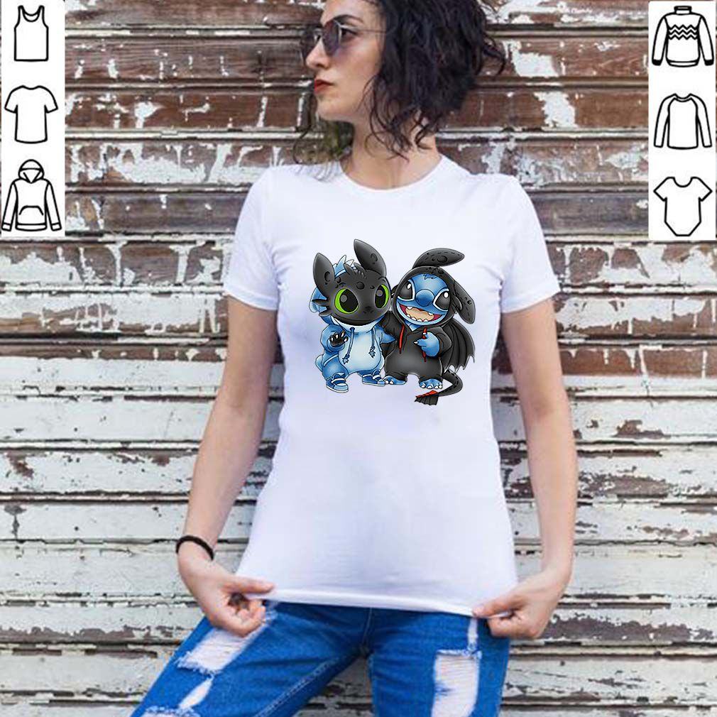 Disney Baby Toothless and Baby Stitch shirt