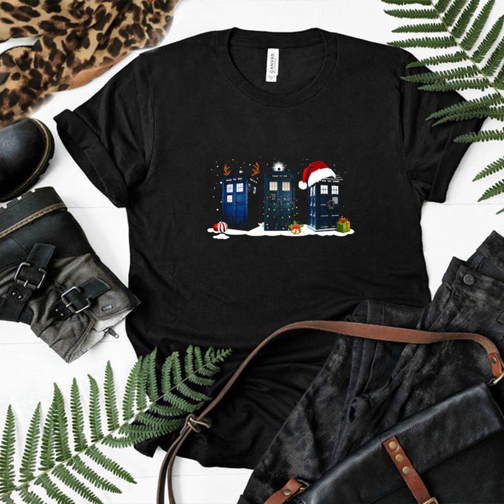 Doctor Who police box Merry Christmas shirt