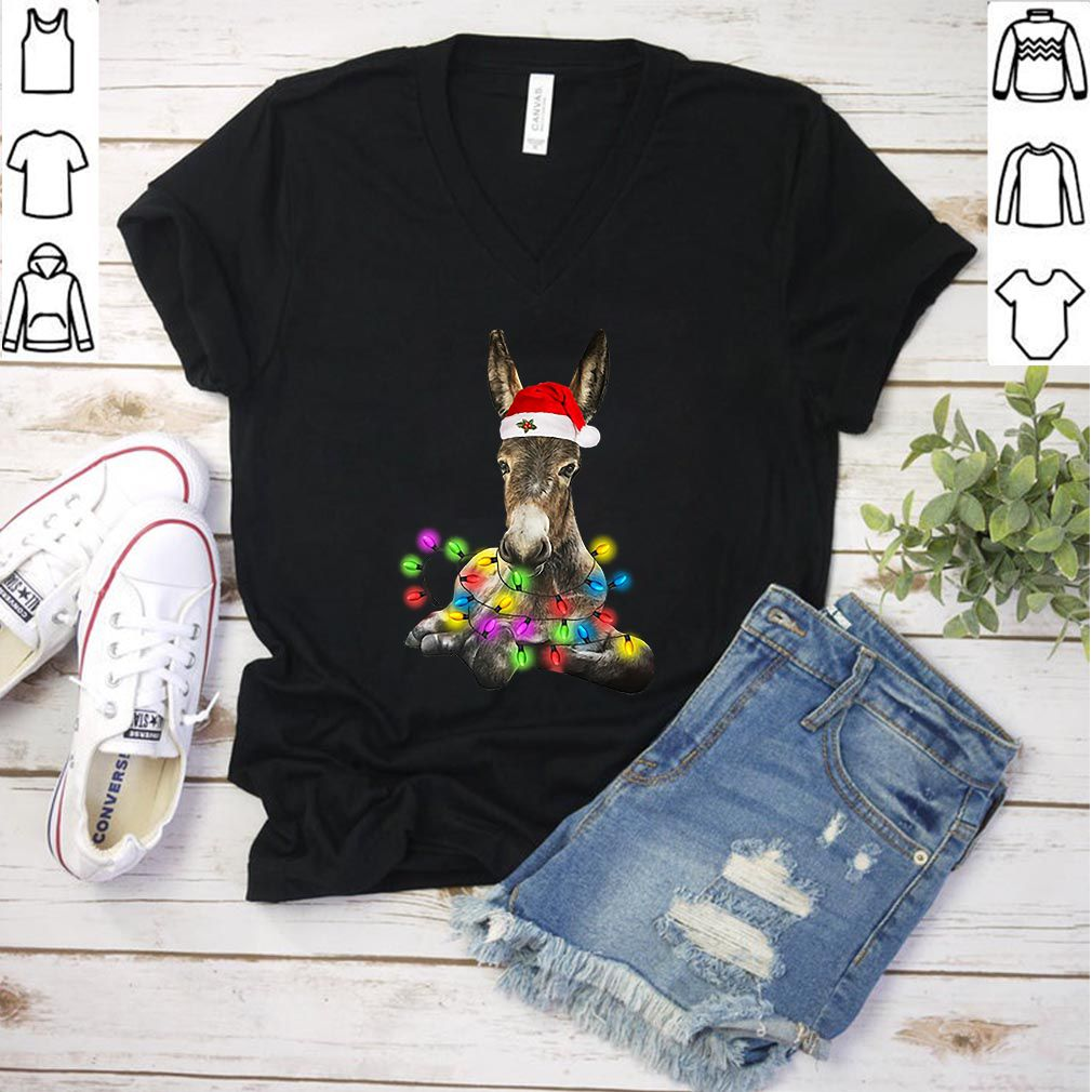 Donkey merry and bright Christmas shirt