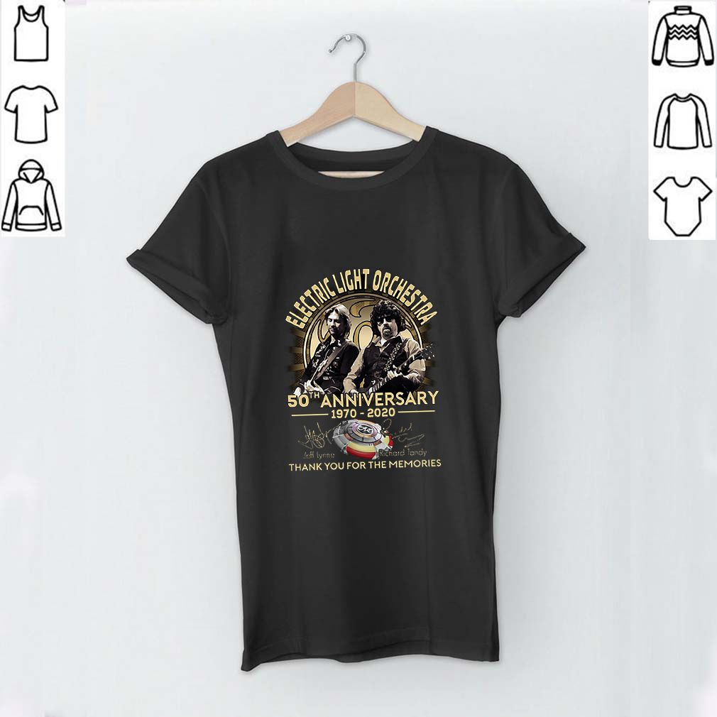 Electric Light Orchestra 50th anniversary 1970 2020 signatures shirt