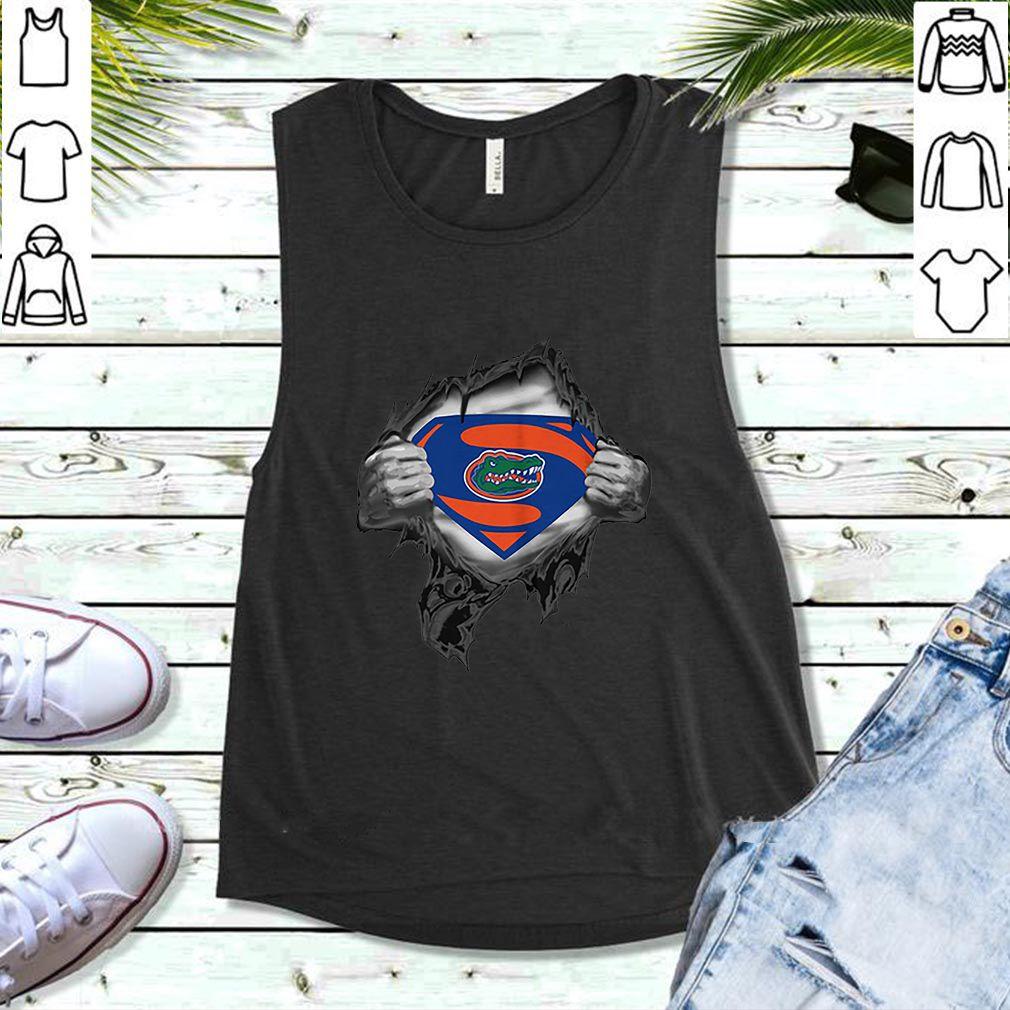 Florida Gators inside me Superman logo shirt