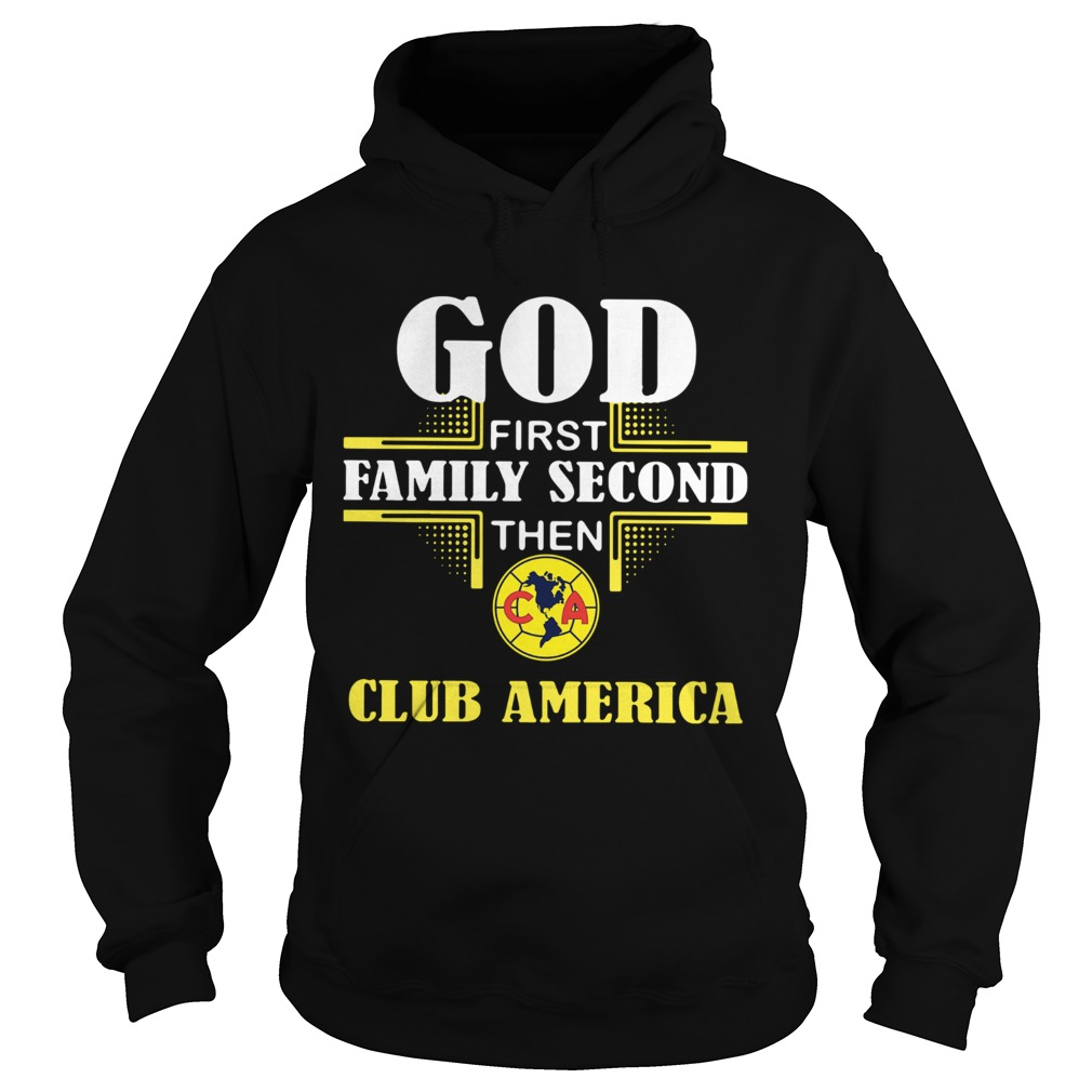 God First Family Second The Club America  Hoodie