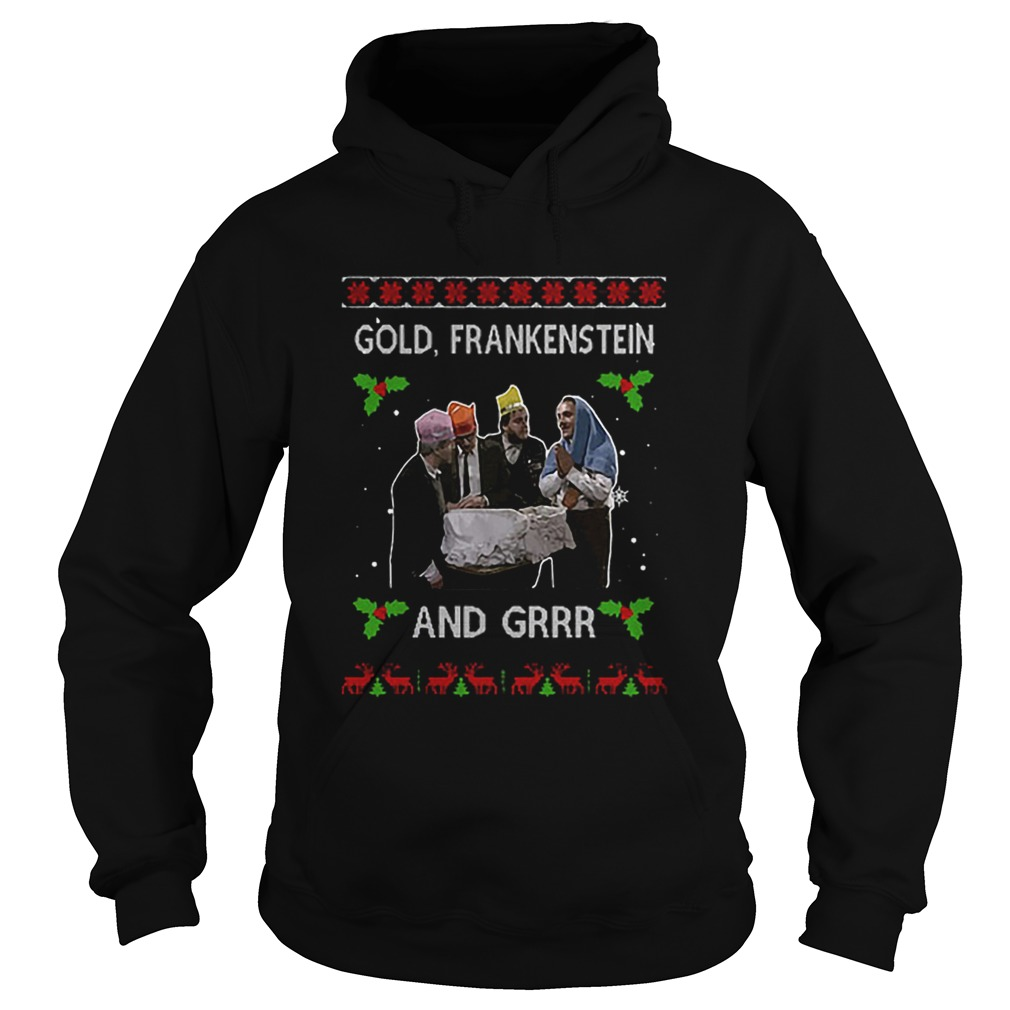 Gold Frankenstein and grrr Ugly Xmas Christmas  Hoodie