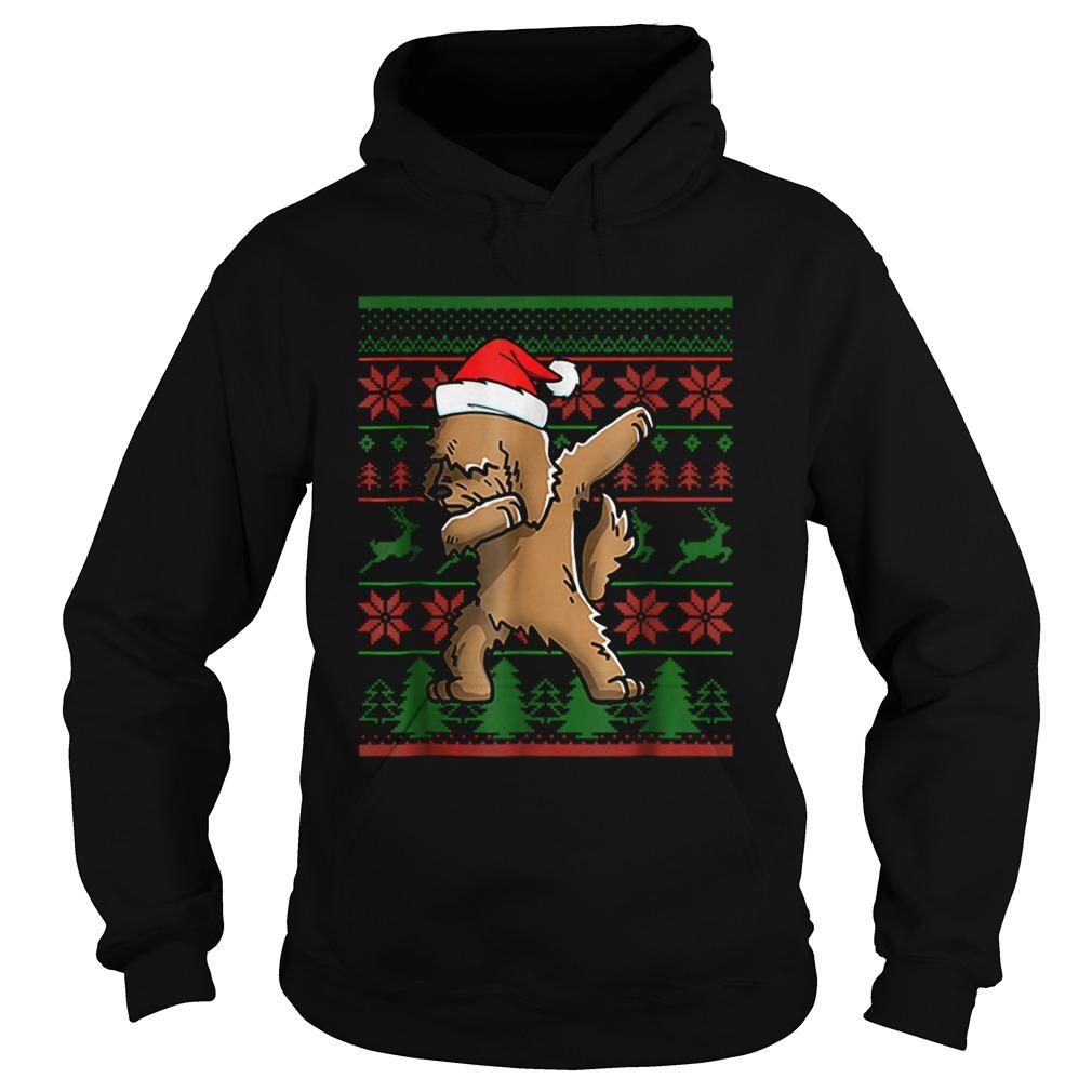Goldendoodle Dabbing Xmas Santa Christmas  Hoodie